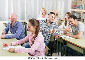 prendre, séance, notes, formation, professionnels