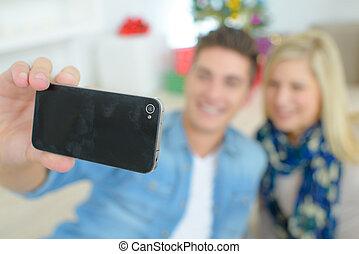 prendre, selfie