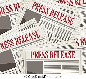prensa, boletines, liberaciones