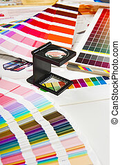 prensa, color, dirección, -, impresión, producción