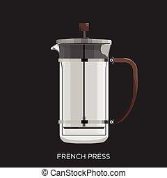 prensa, francés