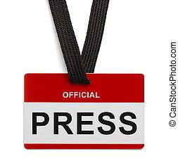 prensa, funcionario, pase