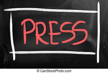 prensa, liberación