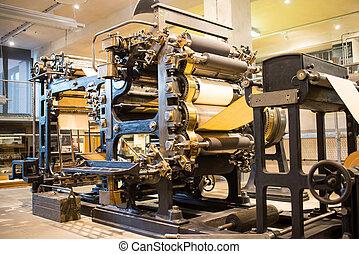 prensa, vendimia, máquina