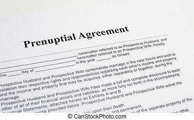 Prenuptial Unterzeichnung Hochzeit Vertrag