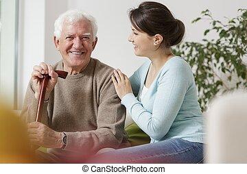 preoccupare, circa, nipote, lei, nonno