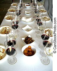 preparação, para, degustação vinho