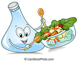 preparación de ensalada