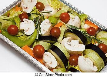 preparado, vegetables.
