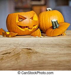 preparando, para, halloween