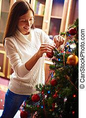 preparando, para, navidad