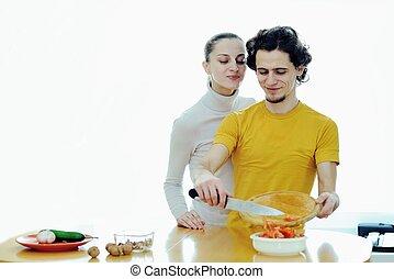 preparare, cibo vegetariano