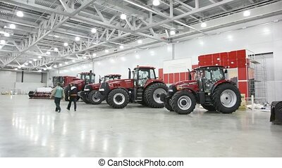 Preparation for AGROSALON Exhibition. - MOSCOW - OCTOBER 3:...
