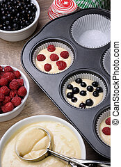 Preparation for baking muffins