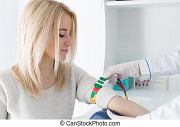 Preparation for blood test