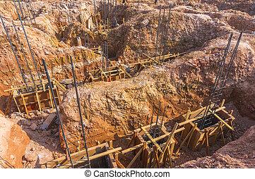 Preparation for building foundation