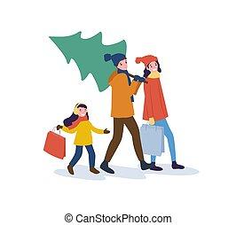 Preparation for Christmas Holidays, Winter Season