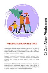 Preparation for Christmas Winter Holidays Poster