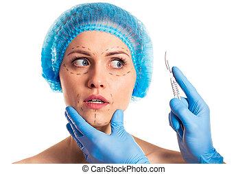 Preparation for facial surgery