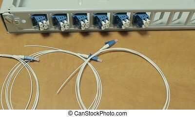 Preparation for the installation of fiber optic equipment