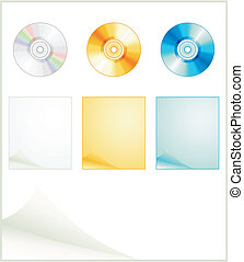Preparation for the Internet as disks. A vector illustration