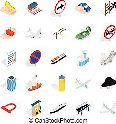 Preparation icons set, isometric style