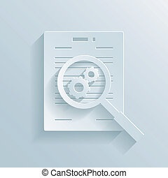 Preparation of a business contract - Paper icon depicting ...