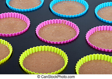 Preparation of chocolate muffins
