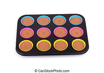 Preparation of chocolate muffins