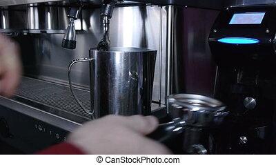 Preparation of espresso coffee