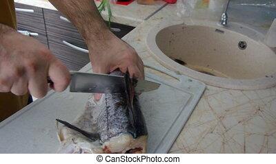 Preparation of  fish - Preparation of sea fish