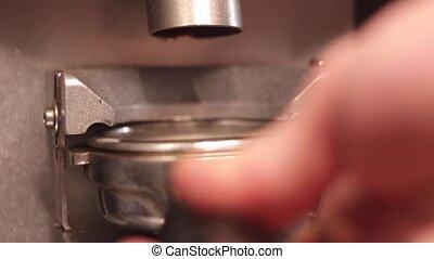 Preparation of fresh, morning coffee. - Preparation of...