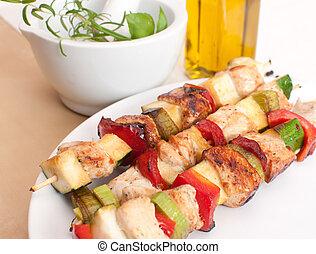 Preparation of kebab
