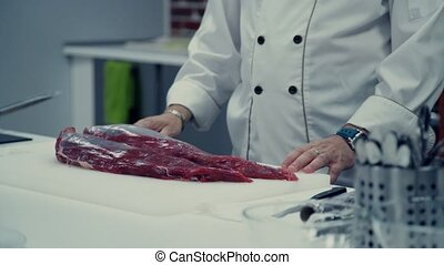Preparation of meat. Meat dish. Culinary master class. cuisine