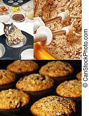 preparation of muffins