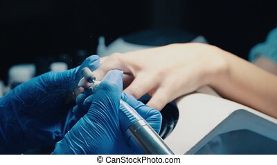 Preparation of nails for manicure - preparation of nails for...