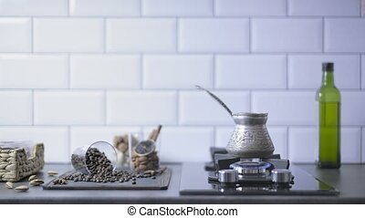 Preparation of Turkish coffee. - Preparation of turkish ...