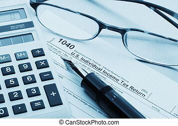 preparazione, contabilità, tassa