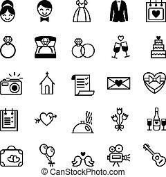 preparazione, icone, matrimonio