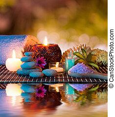 preparazione, massaggio, rilassare
