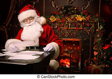 prepare for Christmas - Santa Claus is preparing for...