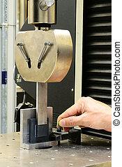 Prepare jig fixture for test shear stress specimen - Prepare...