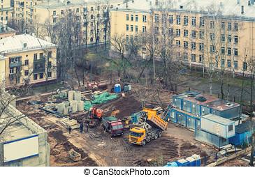 prepared construction site