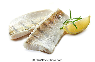 prepared fish fillets - roasted perch fish fillets isolated ...