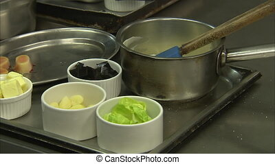 Prepared ingredients - A medium shot of different ...