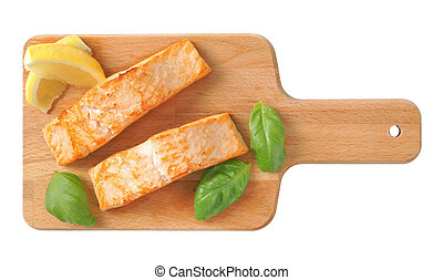 prepared salmon fillets