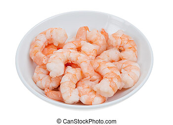 prepared shrimp isolated on a white background