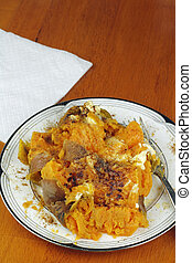 Prepared Sweet Potato with Butter and Cinnamon