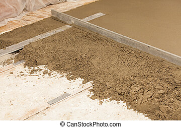 preparing a cement screed - realisation a cement screed in a...