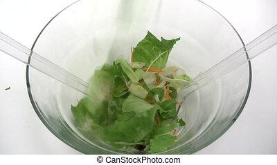 Preparing a Mixed Salad